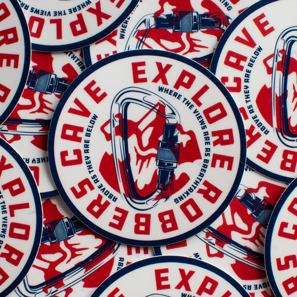Explore Robbers Cave Sticker