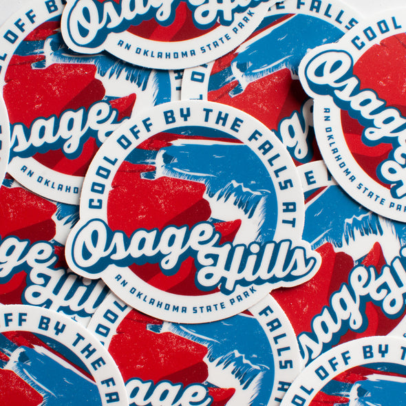 Cool Off Osage Hills Sticker