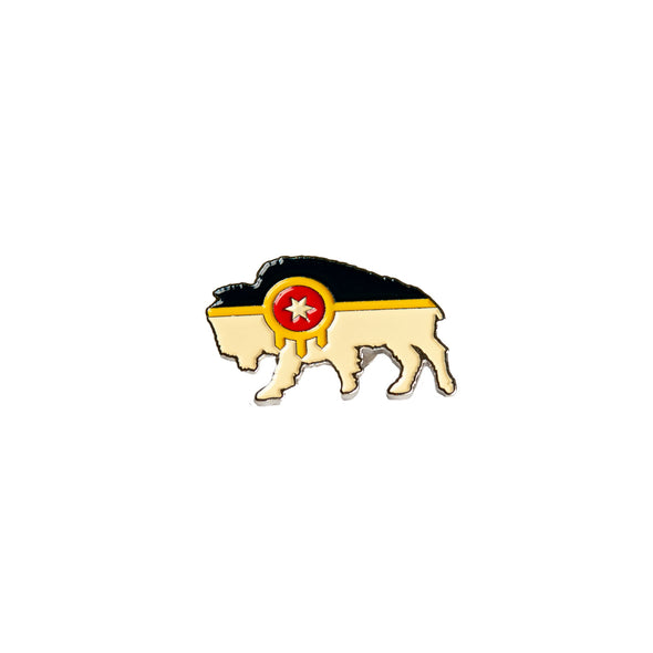 Bison Flag Lapel Pin