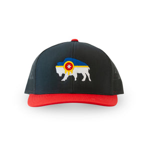 Bison Flag Snapback Trucker Hat - Tulsa Flag