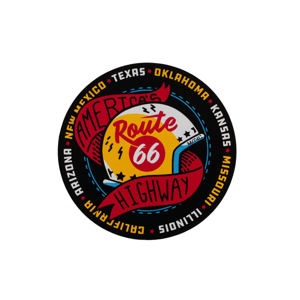 Route 66 Helmet Sticker