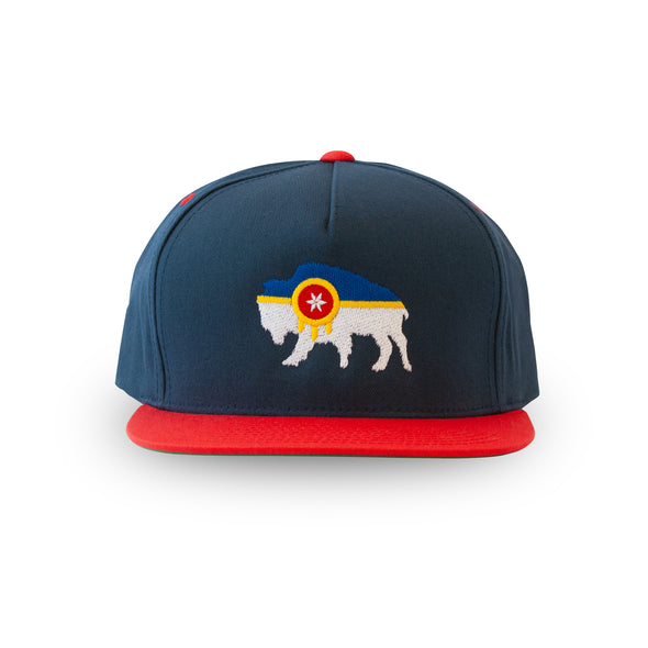 Bison Flag Flatbill - Tulsa Flag Hat