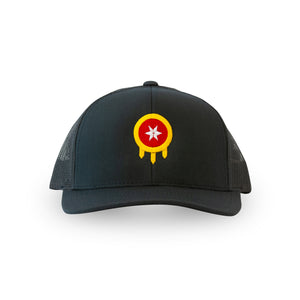 Tulsa Flag Hat - Shield - Navy Snapback