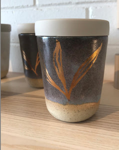 Gum Nut & Leaf Keep Cup by Rachel Farag Pottery