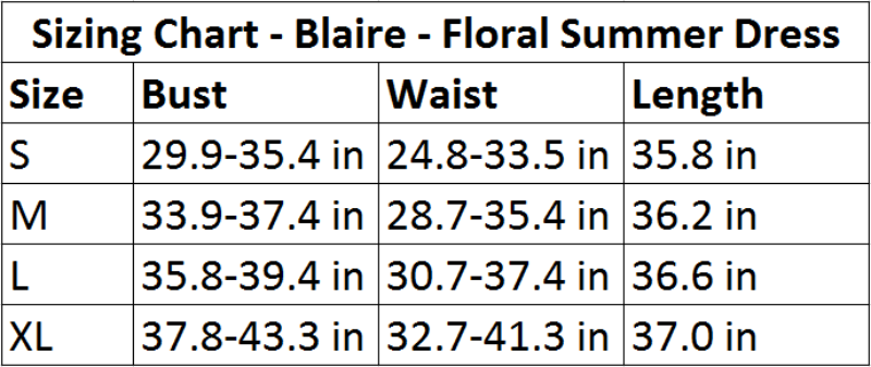 Blaire - Floral Summer Dress