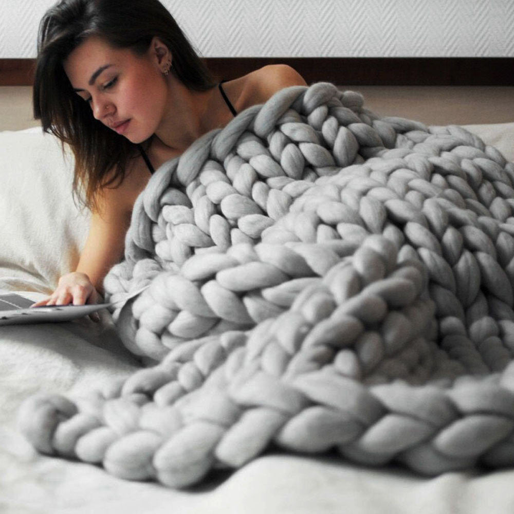 Brielle - Chunky Wool Blanket