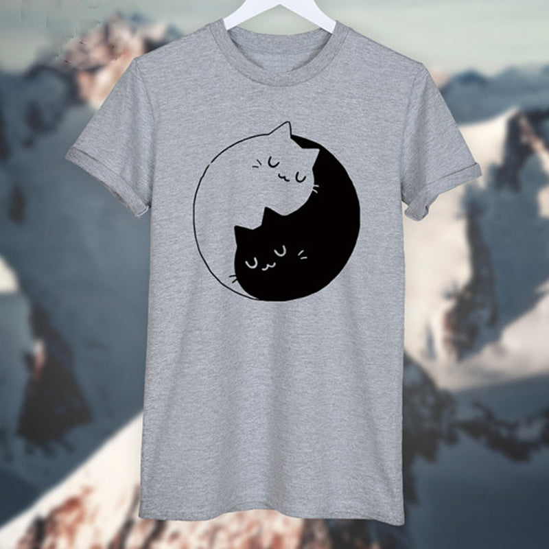 Ying Yang Kittens - Solid Tee