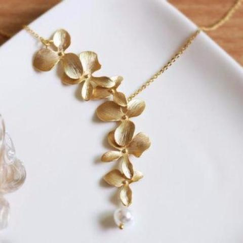 Plated Orchid - Necklace