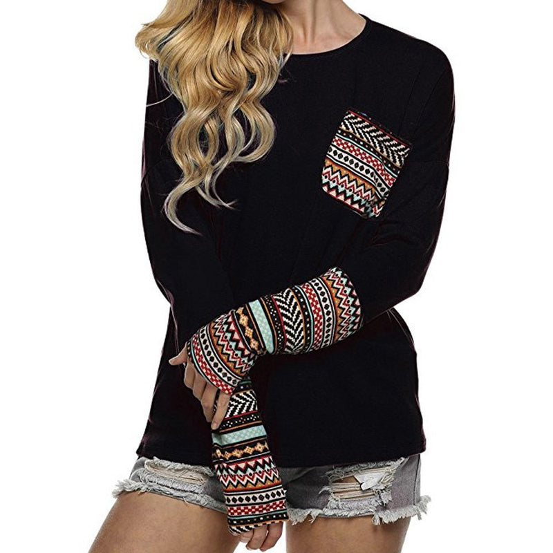Aisha - Aztec Patchwork Top