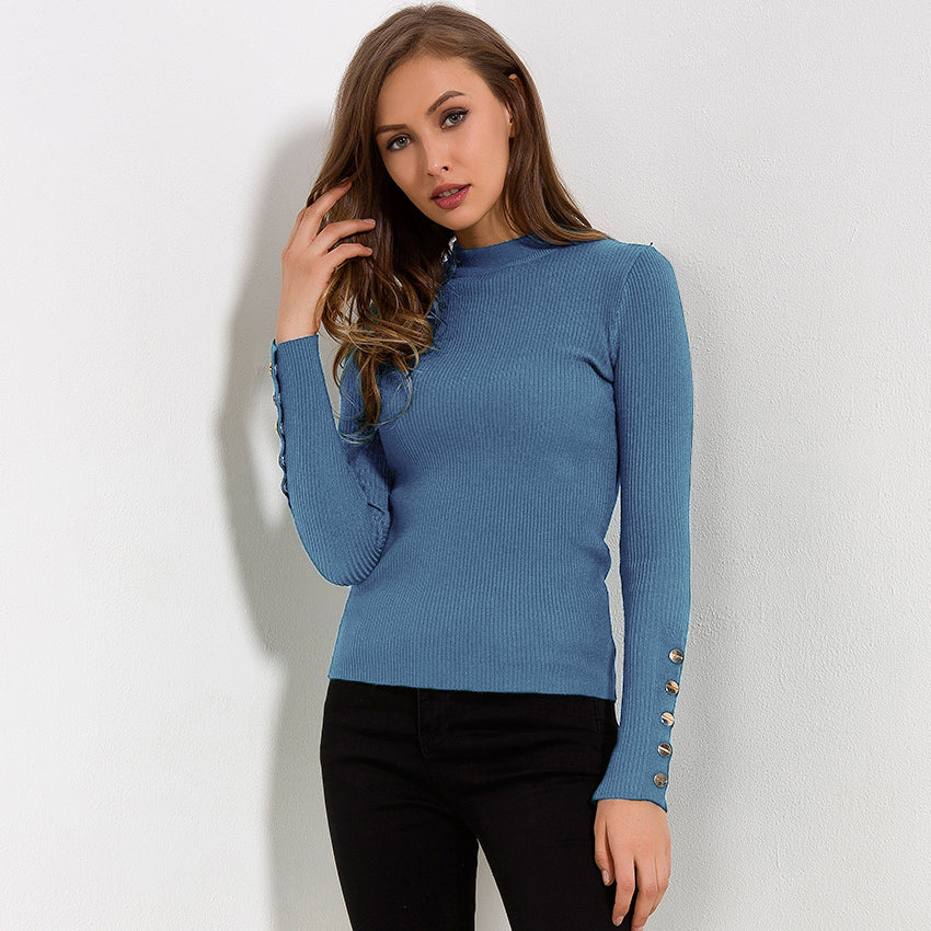 Alexis - Button Sweater