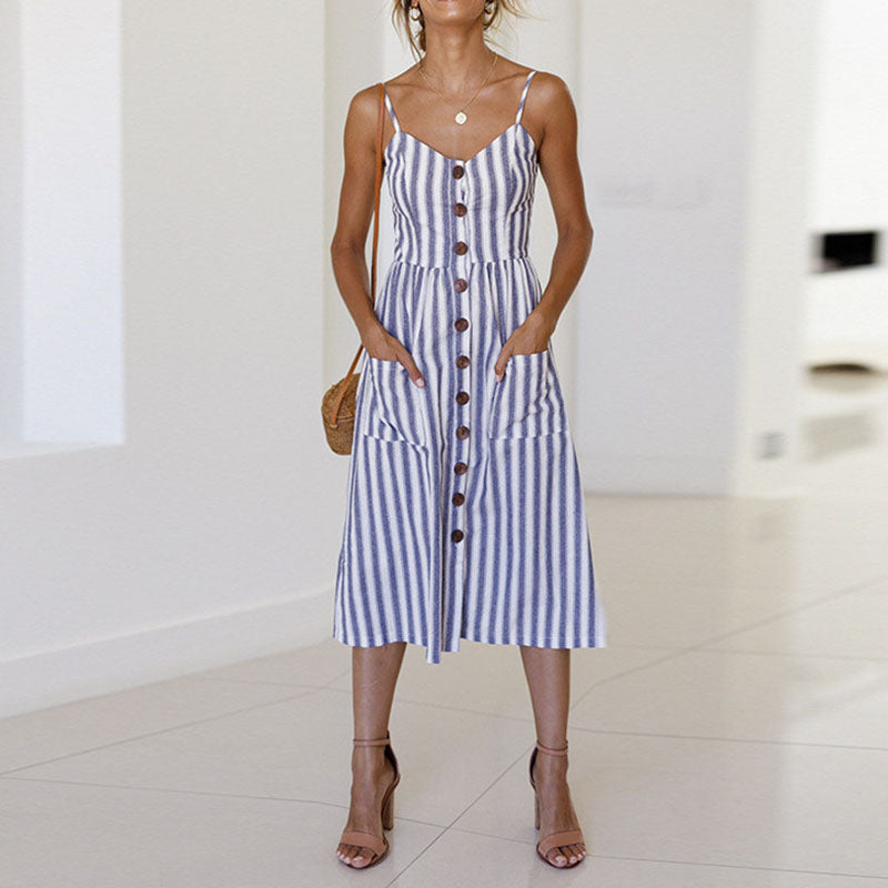 Natalia - Striped Summer Dress