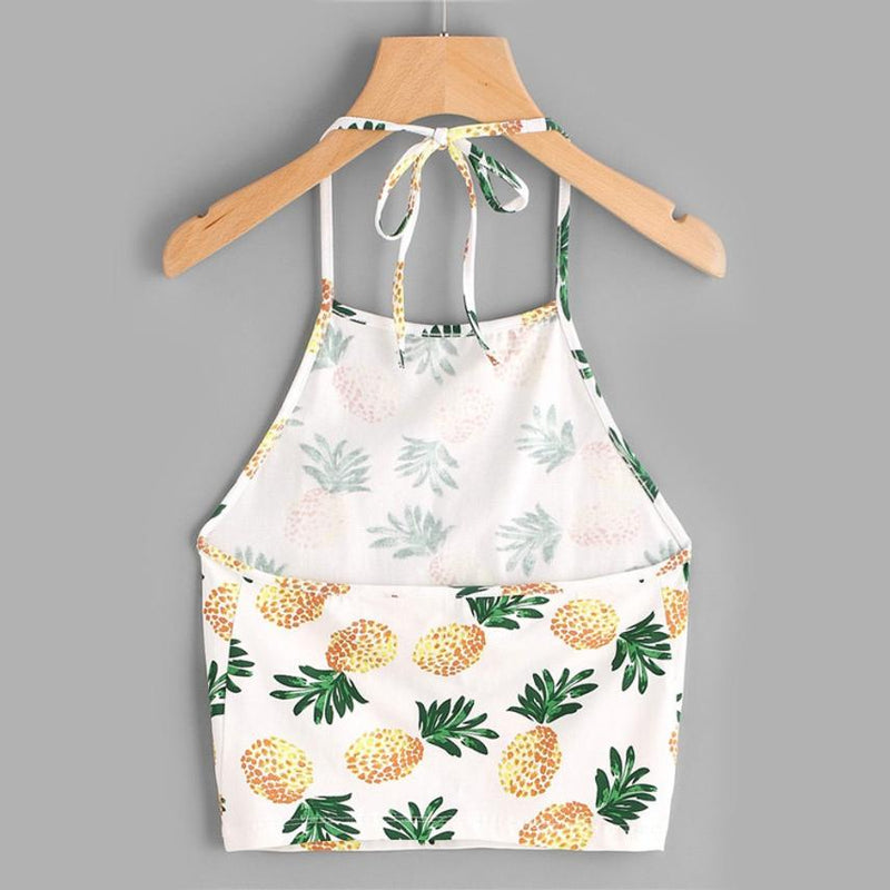 Summer Lovin' - Pineapple Crop Top