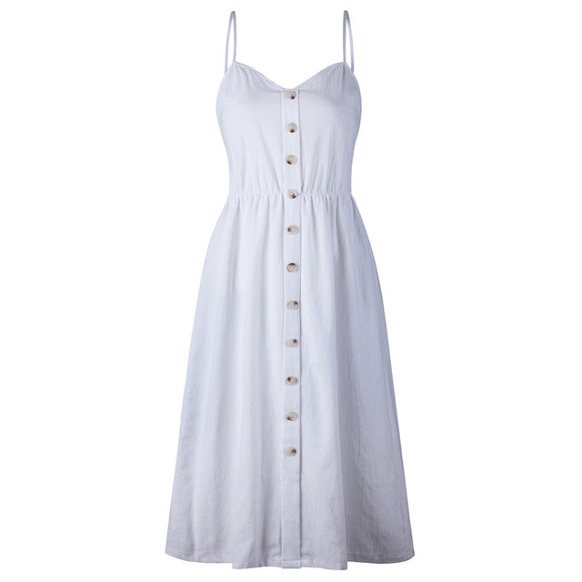 Isabella - Solid Summer Dress