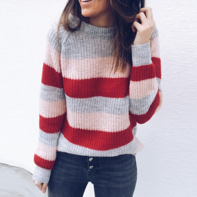 Faith - Striped Pullover