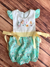 Floral Hand Embroidered Romper Size 18m
