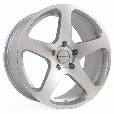 MK1 SET | 18x9.5 +25 | 5x120 | MACHINED SILVER