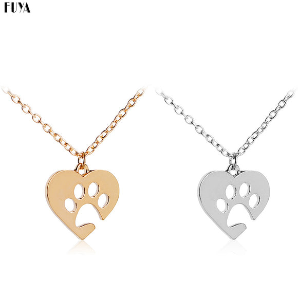 Pawprint Heart Necklaces