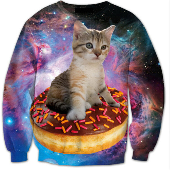 3d Cat Space Donut