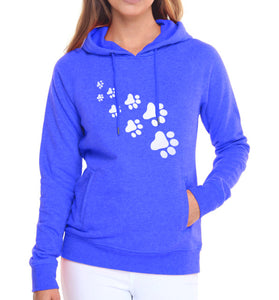 Cat paws print hoodie for Women