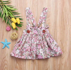 Pink Floral Pinafore Dress