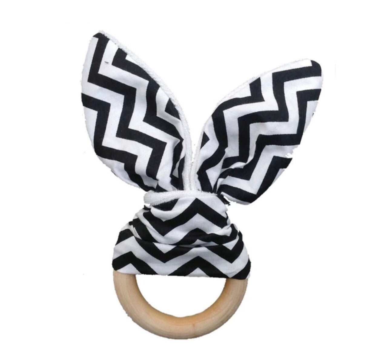 Black Zig Zag Wooden Touch and Feel Toy