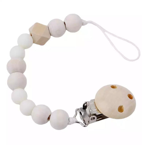 Wooden Dummy Chain - White