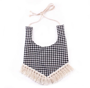 Boho Bib - Black Checkered