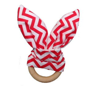 Red Zig Zag Wooden Touch and Feel Toy