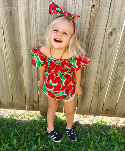Watermelon Wonders Romper