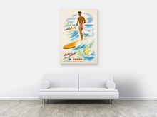 Load image into Gallery viewer, Surfer, Matson Lines Hawaii Travel Poster, 1950s