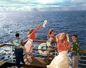 Lei Cast At Sea, Matson Lines Photograph, 1955
