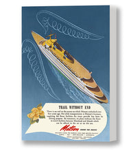 Load image into Gallery viewer, Trail Without End, Matson Lines Advertisement, 1946
