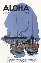 Load image into Gallery viewer, Aloha, July 1920, Matson Lines Magazine Cover