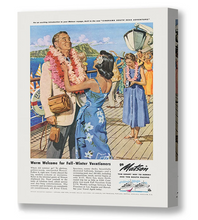 Load image into Gallery viewer, A Warm Welcome, Matson Lines Advertisement, 1958