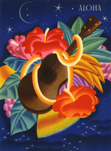 Load image into Gallery viewer, Aloha Ukulele, Matson Lines Menu Cover, 1930s