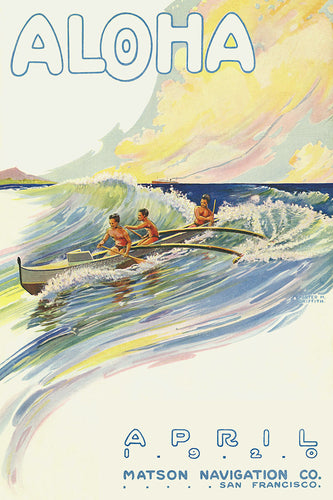 Aloha, April 1920, Matson Lines Magazine Cover