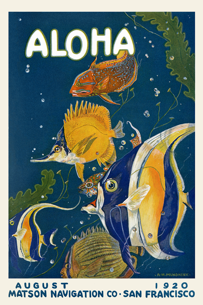 Aloha, August 1920, Matson Lines Magazine Cover