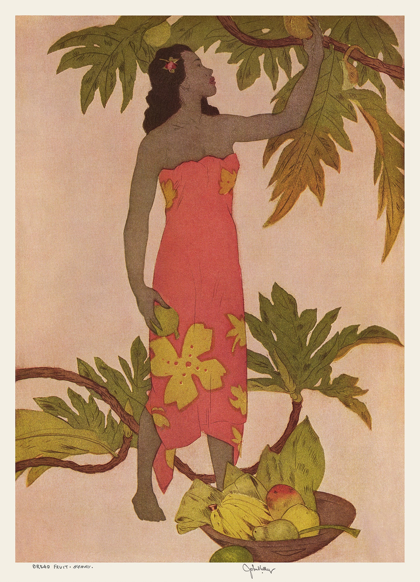 Bread Fruit, Hawaii, Matson Lines Menu Cover, 1947