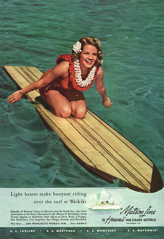 Buoyant Riding, Matson Lines Advertisement, 1939