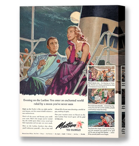 Evening on the Lurline, Matson Lines Advertisement, 1948