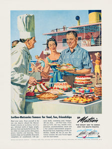 Lurline Matsonia Famous for Food, Matson Lines Advertisement, 1958