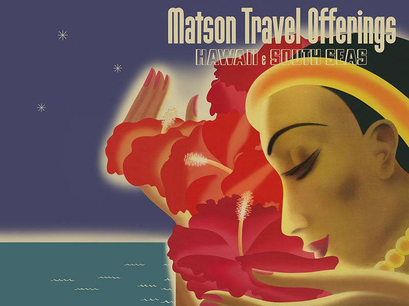 Matson Travel Offerings, Matson Lines Brochure Cover, 1936