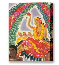 Load image into Gallery viewer, Hula and Lei, Matson Lines Menu Cover, 1930s