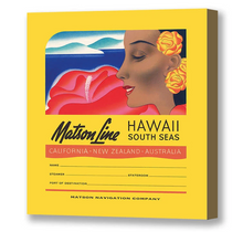 Load image into Gallery viewer, Luggage Tag Hawaii South Seas, Matson Lines, 1930s