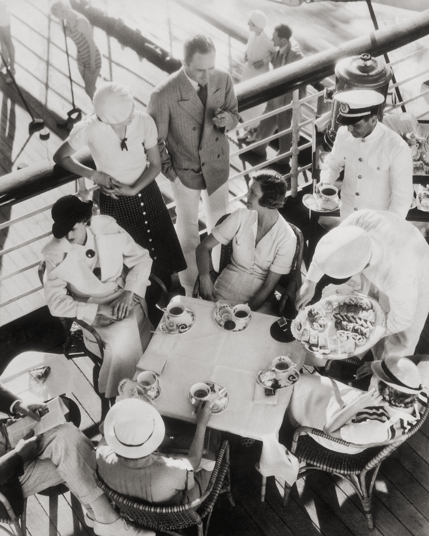 High Tea On The S.S. Lurline, Matson Lines Photograph, 1930s