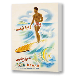 Surfer, Matson Lines Hawaii Travel Poster, 1950s