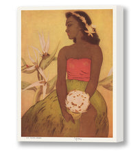 Load image into Gallery viewer, Hula Dancer, Hawaii, Matson Lines Menu Cover, 1947