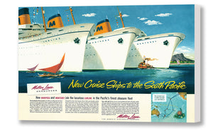 New Cruise Ships to the South Pacific, Matson Lines Advertisement, 1948