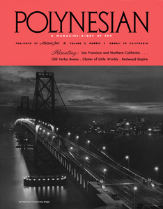 Polynesian Bay Bridge, Matson Lines Magazine Cover
