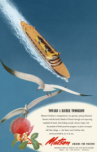 Toward A Richer Tomorrow, Matson Lines Advertisement, 1946